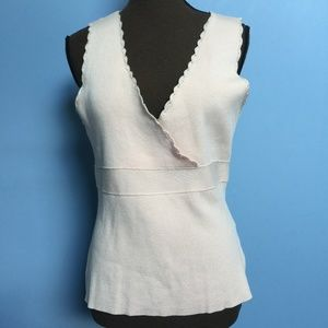4 FOR $10 August Silk Rubbed Surplice Shell Tank